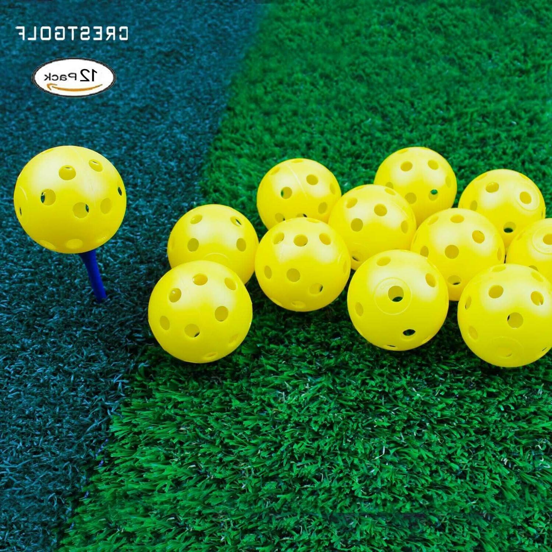 Crestgolf Airflow Golf Balls pack 40mm indoor