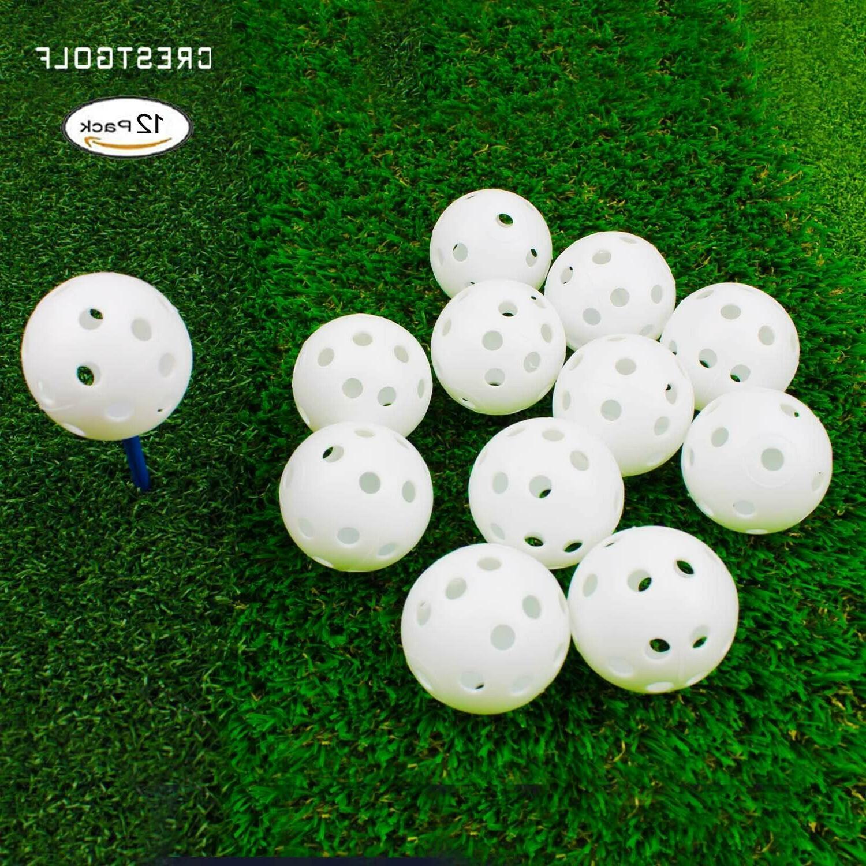 Crestgolf Plastic Golf Balls Practice Balls pack indoor
