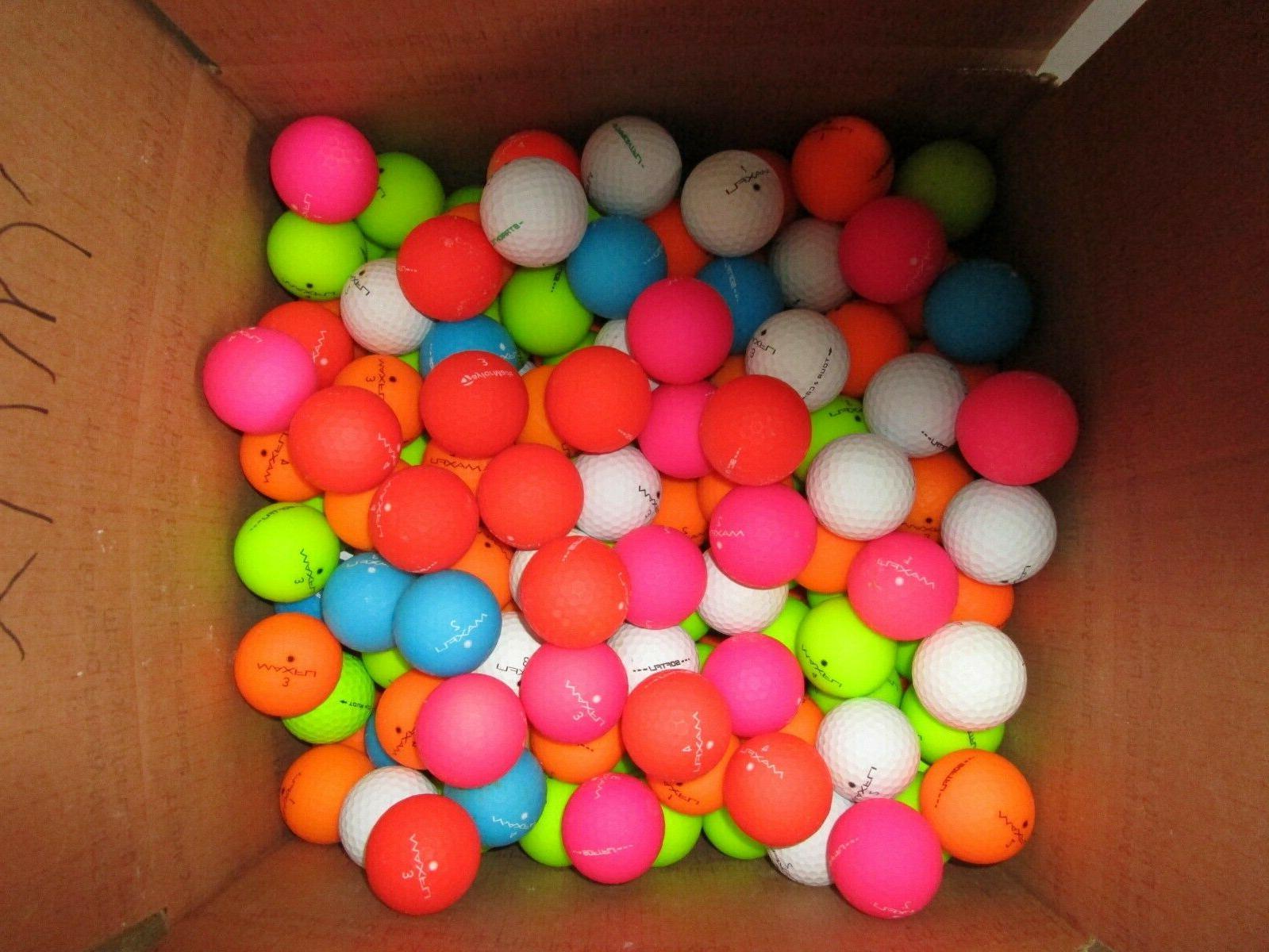 36 orange matte golf ball mix in