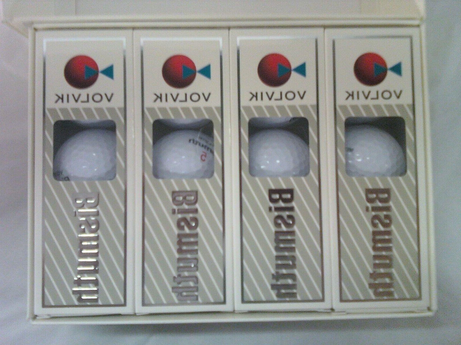 Volvik Bismuth golf balls. one dozen new white balls in Or