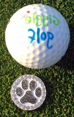 Giggle Golf Paw Print Ball With A Standard