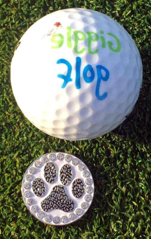 Giggle Golf Bling Print Golf Ball Marker With Standard Clip