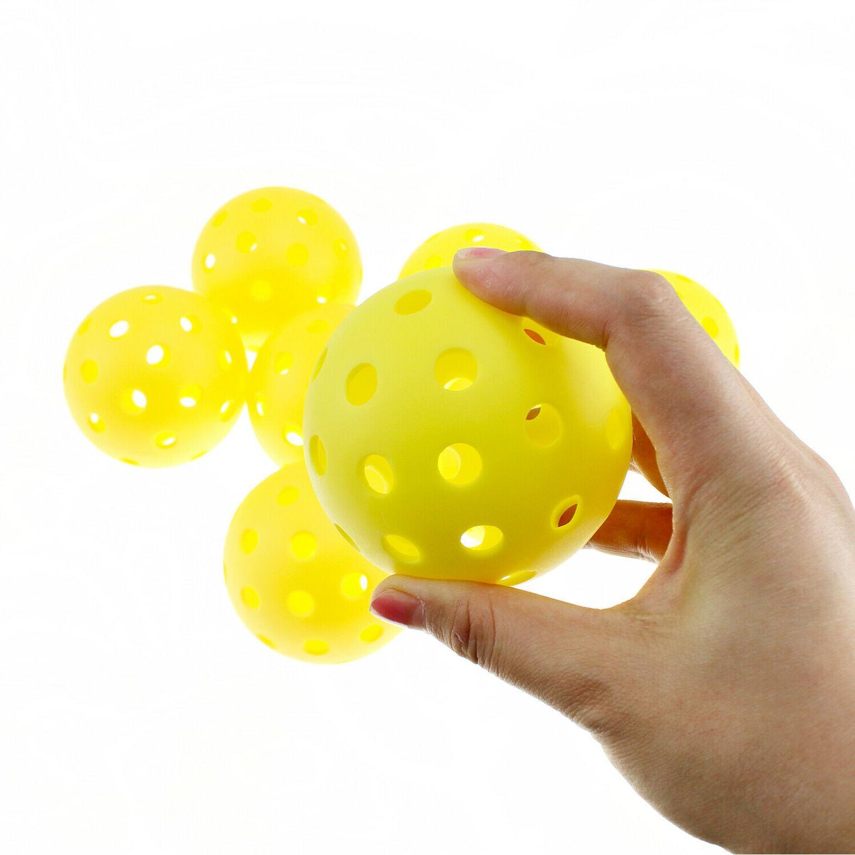 Crestgolf Pickleball Balls plastic floorball Holes