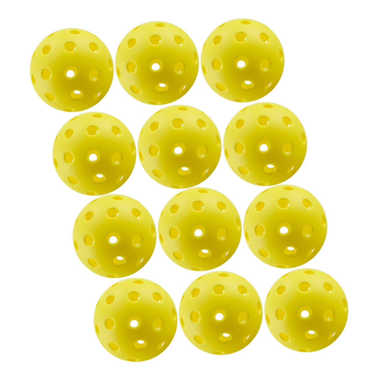 crestgolf pickleball balls 70mm plastic ball floorball