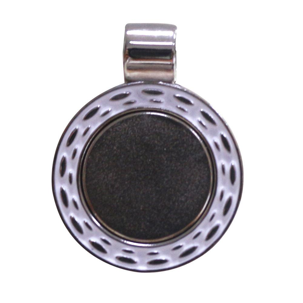 Crystal Golf Ball Marker Magnetic Necklace Black Leather Cord