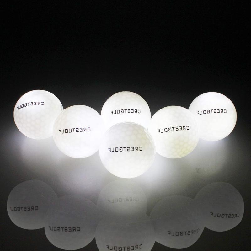 Crestgolf Flashing Glowing Golf Ball,Night Glow Flash Light