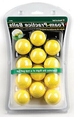 foam practice balls yellow 12pk golf new