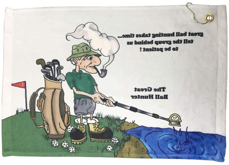 Giggle Golf The Great Ball Hunter Golf Towel   Funny Golf To