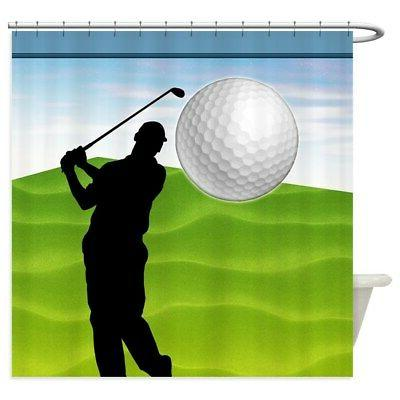 golf ball coming at you shower curtain