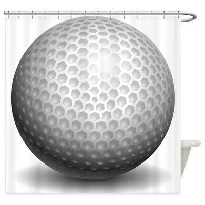 golf ball decorative fabric shower curtain 69