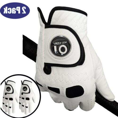 mens golf gloves with ball marker 2