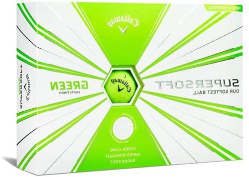 Callaway Golf Supersoft Golf Balls, One Dozen, Green, Matte