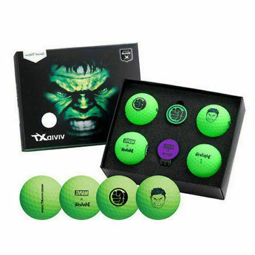 Volvik Golf Marvel Hulk 4 Balls with Marker Edition
