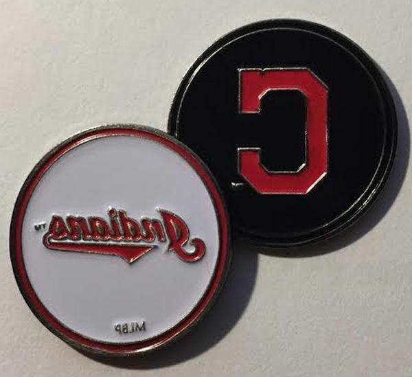 NEW MLB Cleveland Indians Golf Ball Marker + Free BONUS!!!