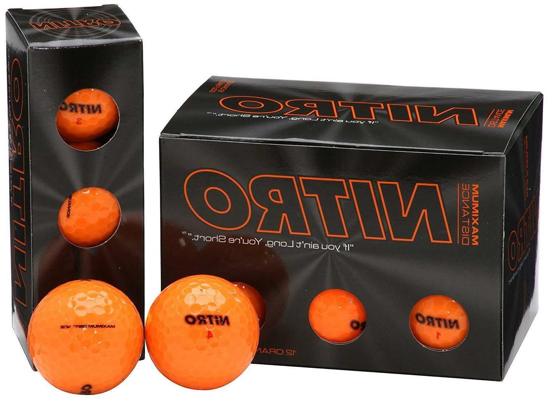 Nitro NMD12OBXC Maximum Distance Golf Ball , Orange Free shi
