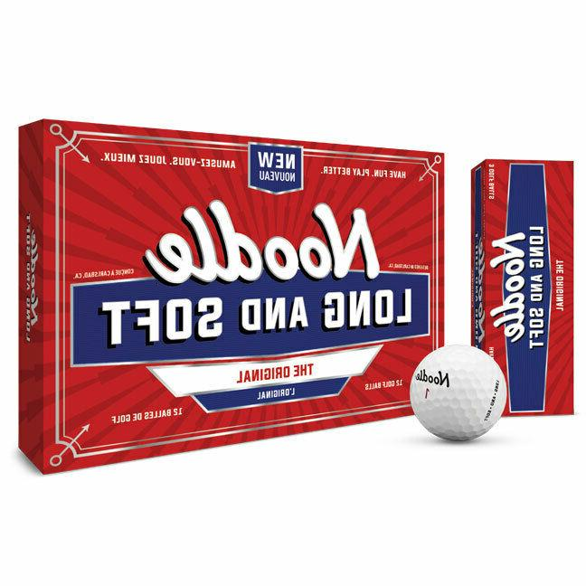 noodle long and soft white golf balls