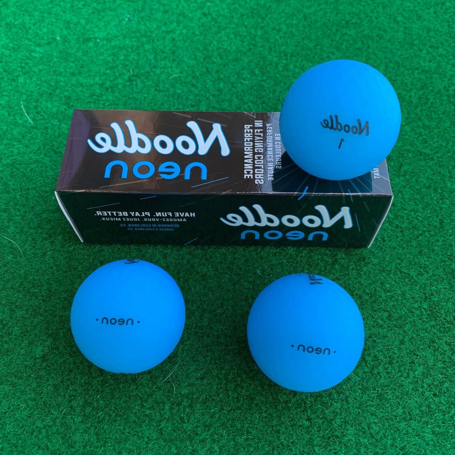 noodle neon golf balls blue new 3