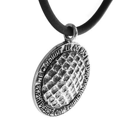 Phil 4:13 Necklace Silver