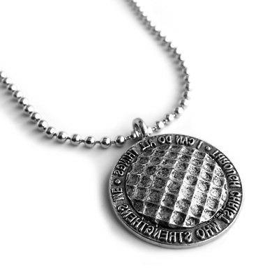 Phil 4:13 ball Necklace
