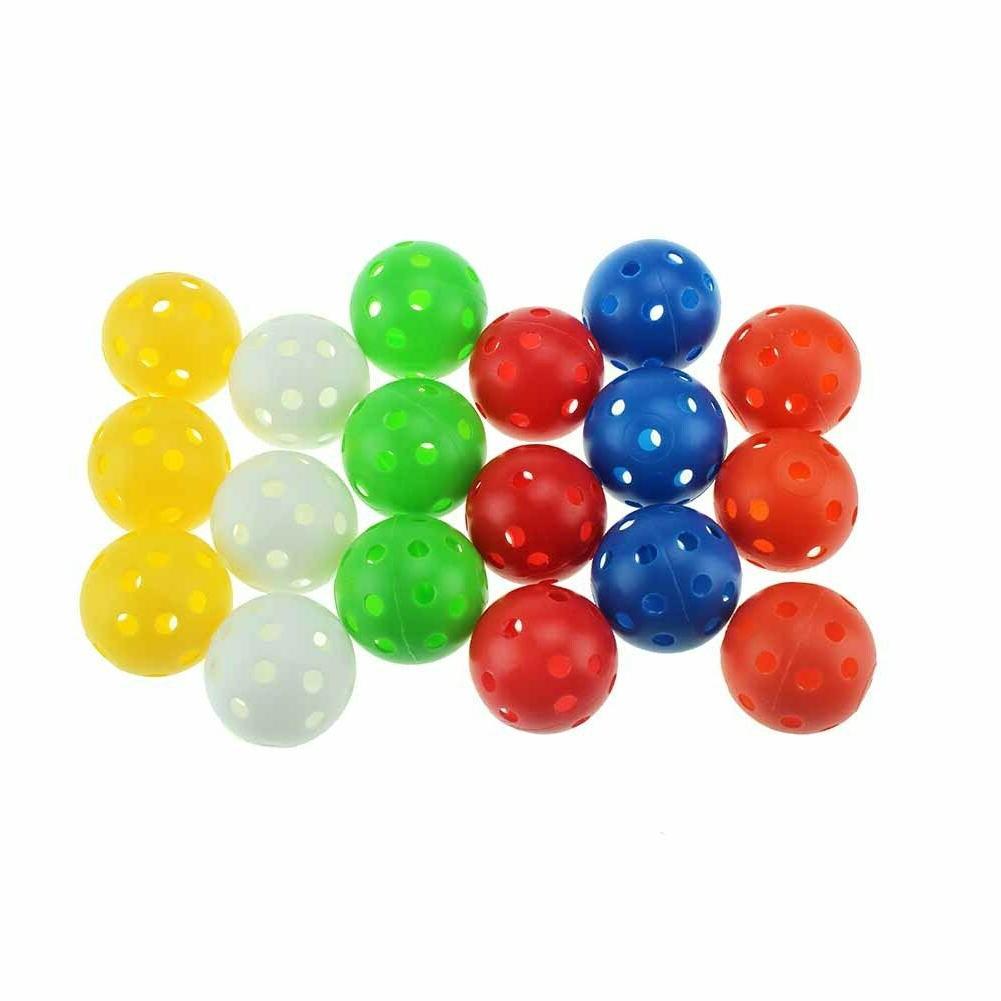 plastic airflow golf balls practice balls 12pcs
