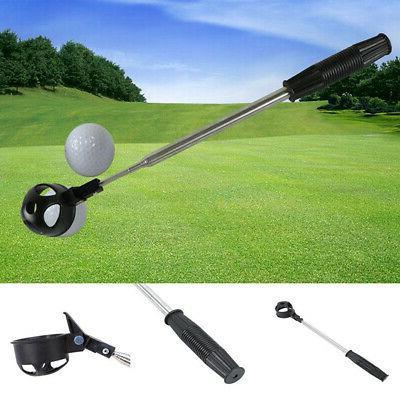 telescopic stainless steel shaft golf ball pick