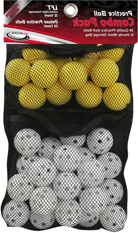 Practice Ball Combo Pack Golf Ball Size Multi Sport
