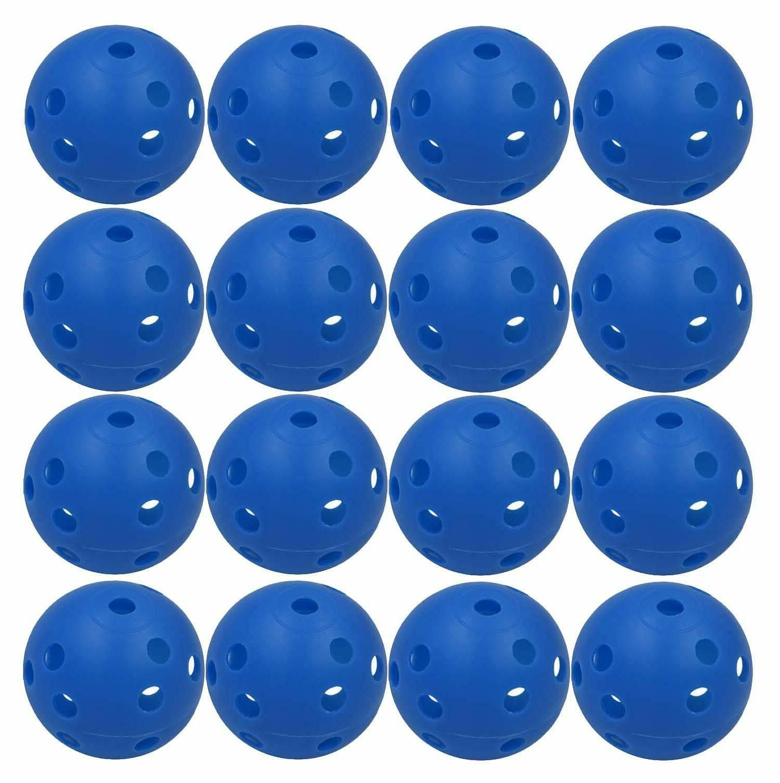 Practice Golf Balls Plastic Wiffle Airflow Hole Colored 12 2