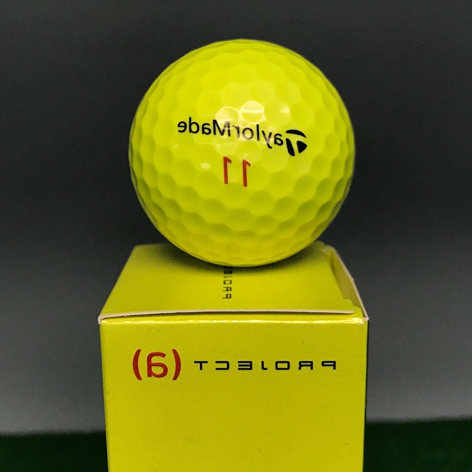 TaylorMade Golf Balls - Hi-Visibility YELLOW NEW