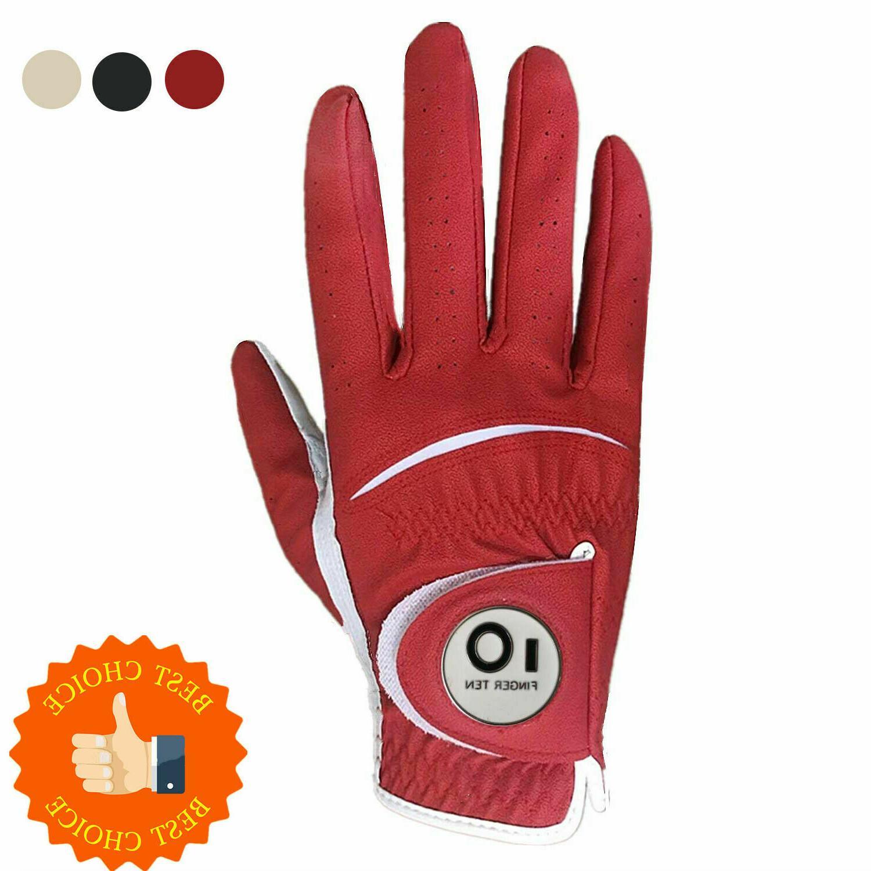 PU Leather Golf Mens 1/2 LH Finger US