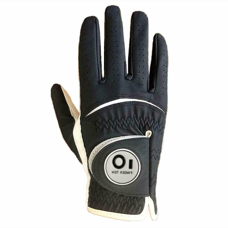 pu leather golf glove mens w magnetic