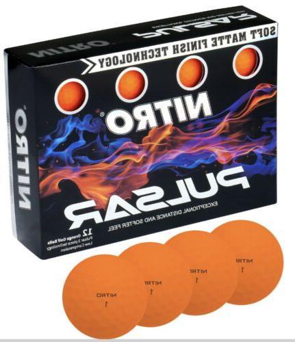 pulsar 1 dozen 12 orange golf balls