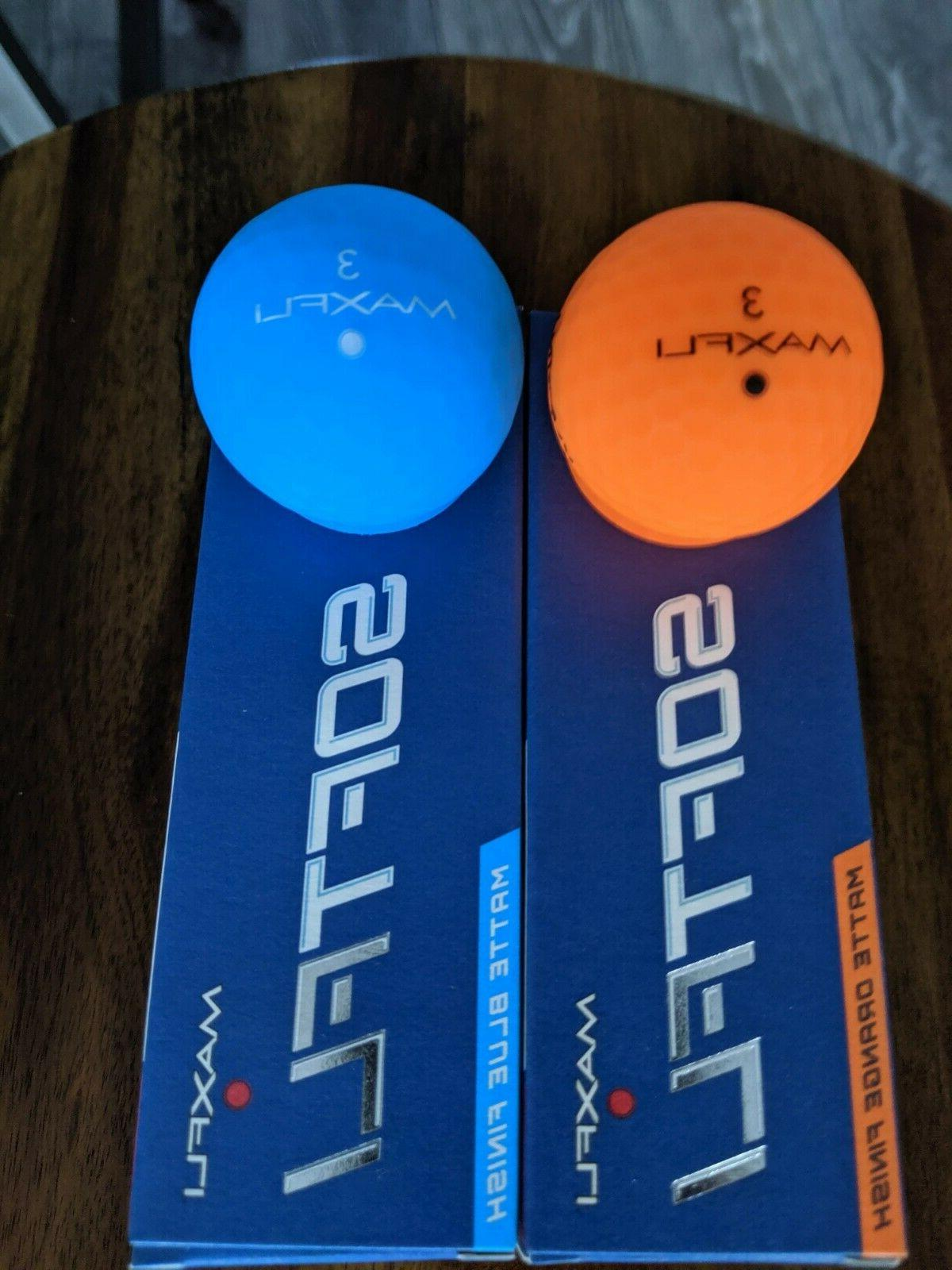 softfli vivid color golf balls blue orange