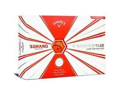 super soft golf ball 1 dozen orange