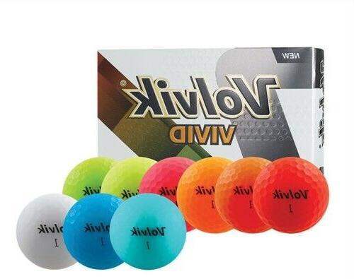 vivid golf balls matte finish pick a