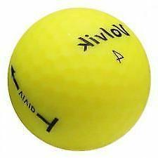 Volvik Vivid 3 Piece Golf Balls - Matte Yellow