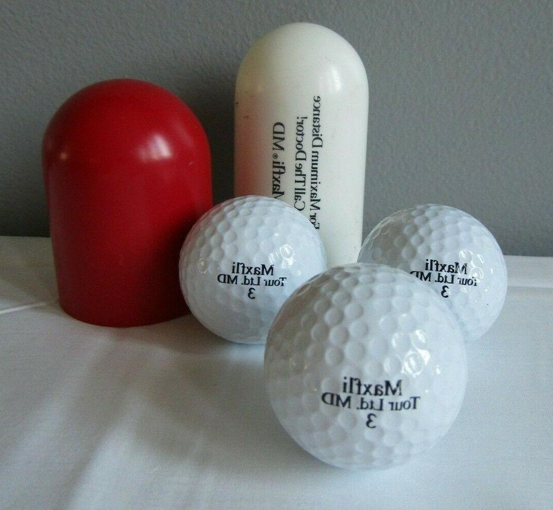 Vtg Maxfli Capsule Golf Ball Dr. Premium