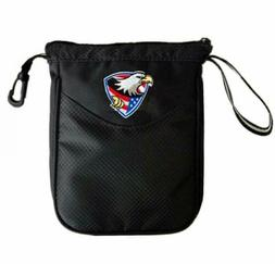 Lightweight Golf Tees Pouch Bag Black Zipped Mini Golf Ball