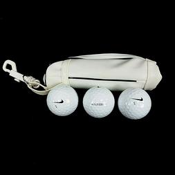 Lot Of 3 Nike Juice Plus Golf Balls With Mini Golf Bag Stora