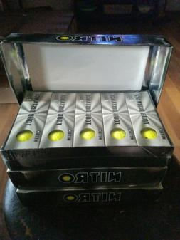 Lot Of 3 Nitro Tour Distance Titanium Golf Balls Yellow 15 P