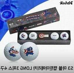 Volvik Marvel Avengers 4 Golf Balls Set Captain America Spor