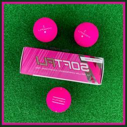 Matte PINK Golf Balls - Maxfli SOFTFLI - NEW Sleeve