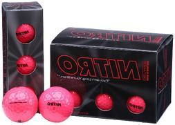 Nitro Maximum Distance Pink Golf Balls