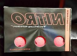 Nitro MAXIMUM DISTANCE Golf Balls , Pink New FREE Shipping!