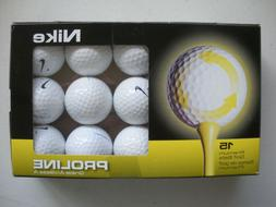 ** MINT ** 15 NIKE GOLF BALLS PROLINE RECYCLED WHITE GRADE A