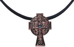 Necklace with Celtic Cross Golf Ball Marker & Magnetic Heart