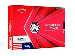 NEW 2020 Callaway Chrome Soft TRUVIS Golf Ball - 6 Dozen - R