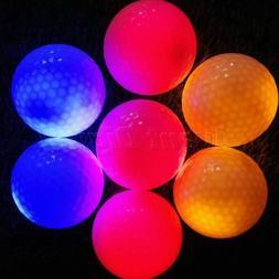 New 4pcs LED Flashing Golf Balls Night Light Glow Tracker Ou