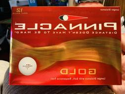 New Box Of 12 Pinnacle Gold Distance Golf Balls Soft Respons