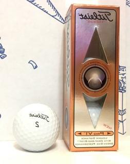 New Box Titleist Pro V1 White Golf Balls 3-Pack #1 Ball In G