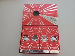 NEW Callaway Golf Chrome Soft Truvis Red/White Golf Balls 1